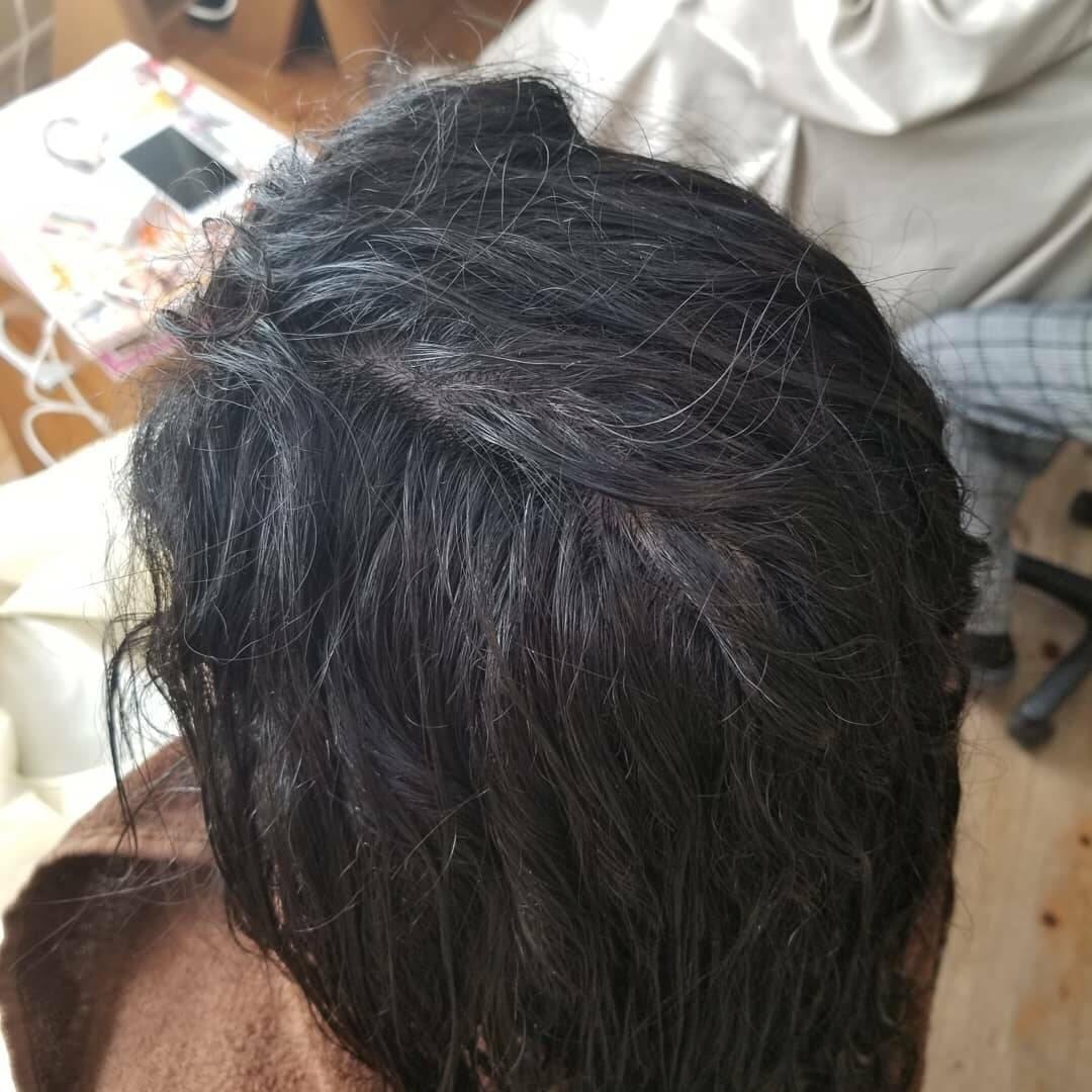 強いクセ毛のボリューム