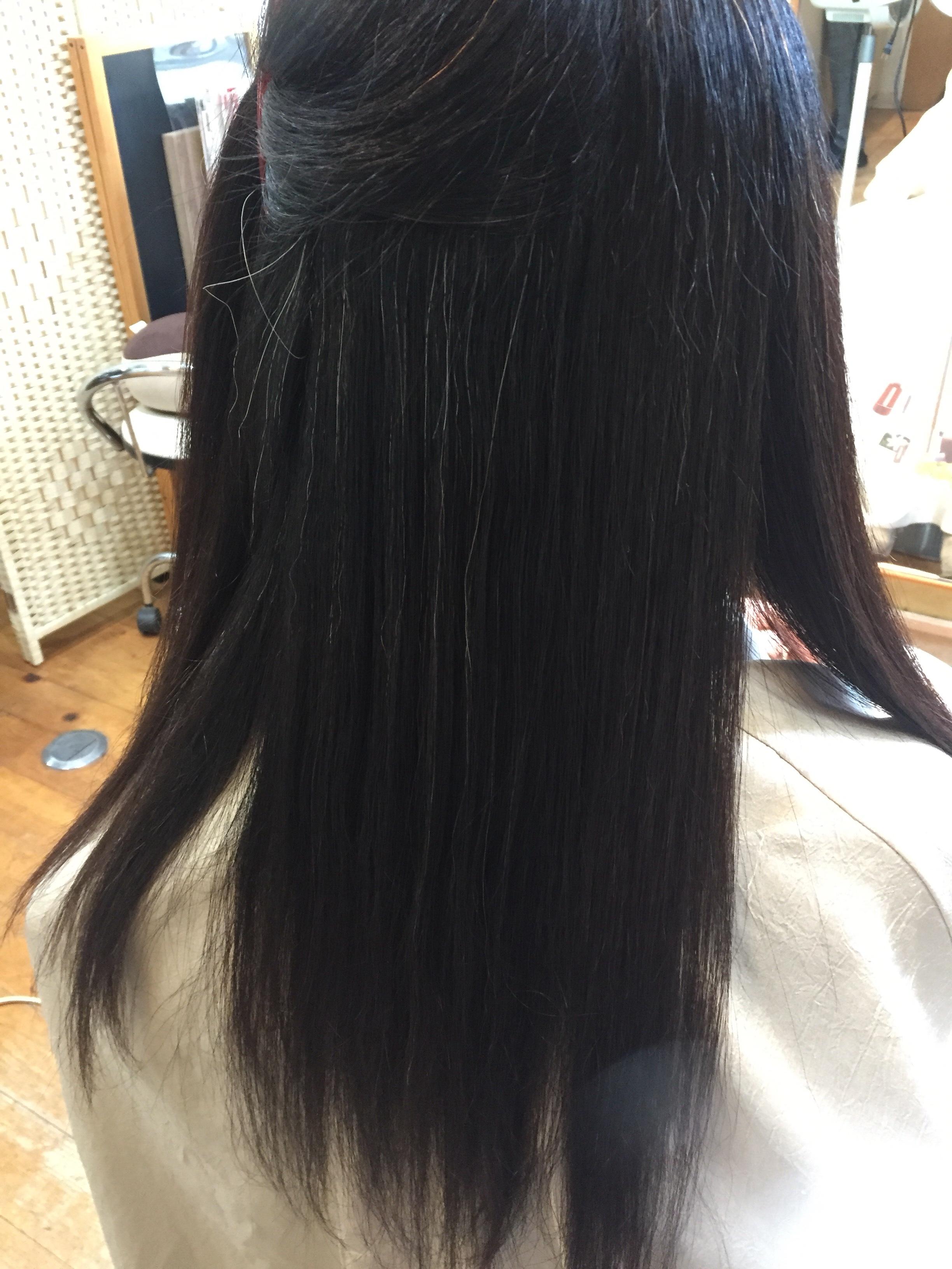 強いクセ毛