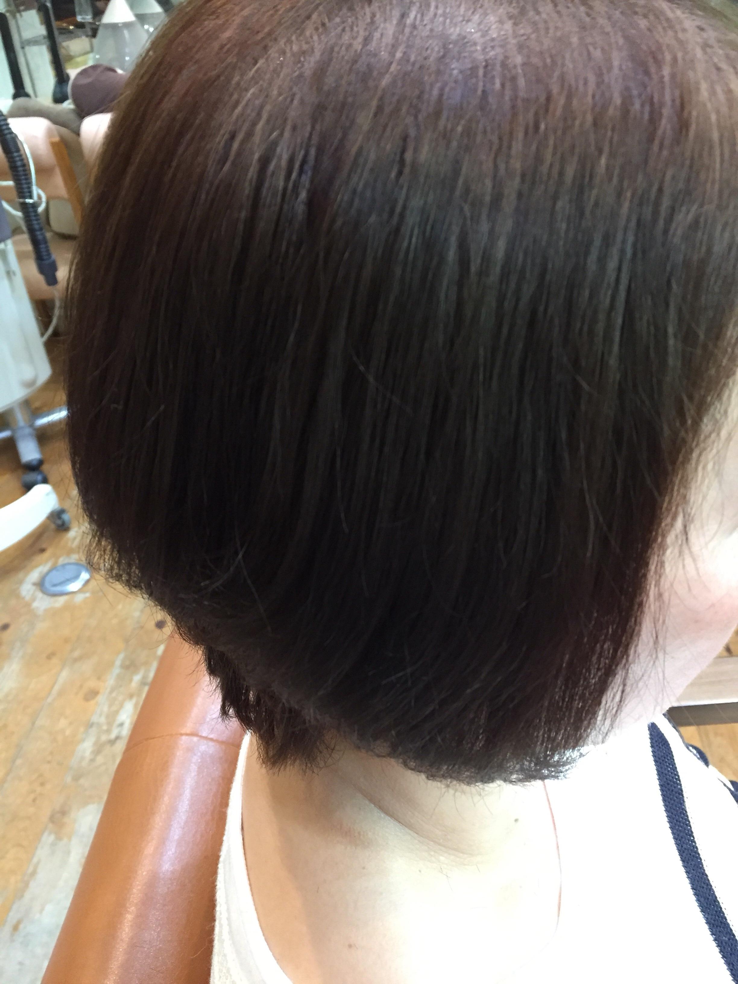 軟毛のクセ毛